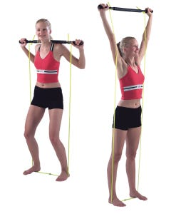 Exercise Bar With Tubing Padded