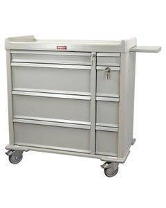 Harloff Standard Line 600 Capacity Punch Card Medication Cart with Standard Package