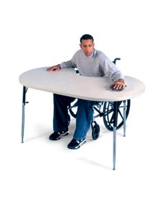 Hausmann 6642 Height-Adjustable Powder Board Table