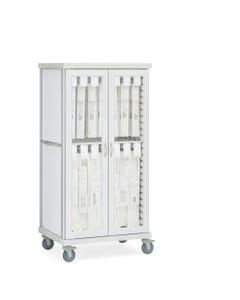 Innerspace Roam 2 Stent Cart with Hinged Glass Doors, SR2GSTE