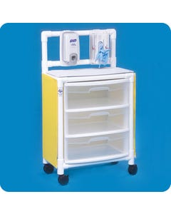 IPU ISO ST33 Isolation Cart with 3 Drawers