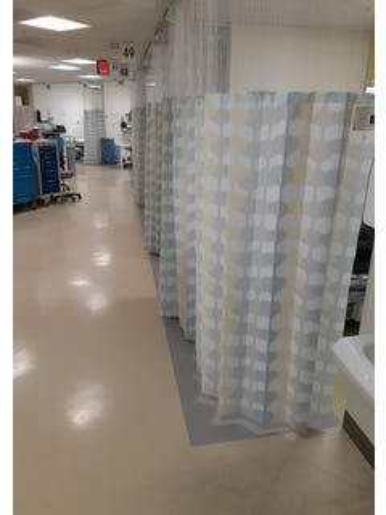 KleenEdge KE-915-MH Mesh  w/ Snaps for Cubicle Curtain (50 / cs)