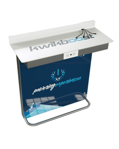 Kwikboost Wall Charging Workstation - Includes (2) Outlets and (2) USB Ports - (4) Charging Cables w/ Custom Graphics