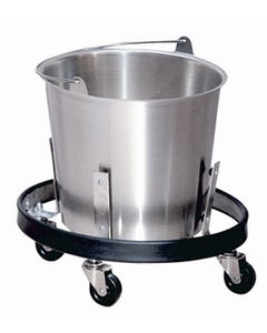 Lakeside Stainless Steel kick bucket with frame