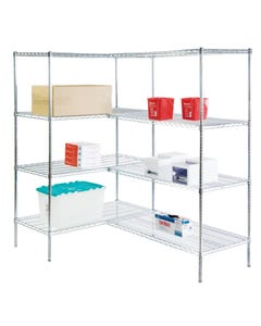 Lakeside Round Post Wire Shelving Units Add-On Units