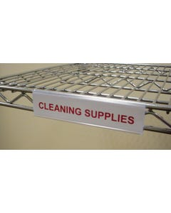 Lakeside Rslh-6 Replaceable Label Holder For Wire Shelf