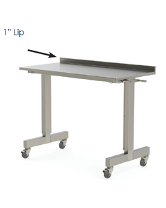 """MAC Medical 1LP 1"""" lip on back for MAC Medical Stainless Steel Tables"""