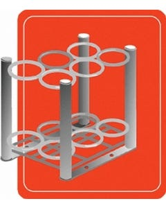 """2004 """"D/E"""" 6-Slot Small Cylinder Stand"""