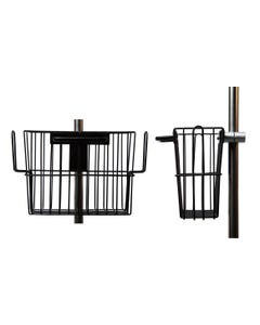 """Maxtec R105P17 I.V. Pole Basket, 1"""" Front and Side"""