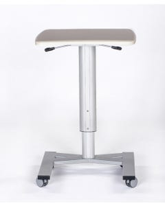 MedViron ROAM: Height-Adjustable Mobile Work Surface with Removable Drawer Bin