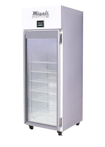 Migali EVOx-1RG 25 Cu Ft Locking Triple Pane Heated Glass Door Pharmacy Refrigerator