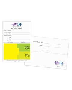 UltraViolet Devices UV-C Surface Dose Verification Cards