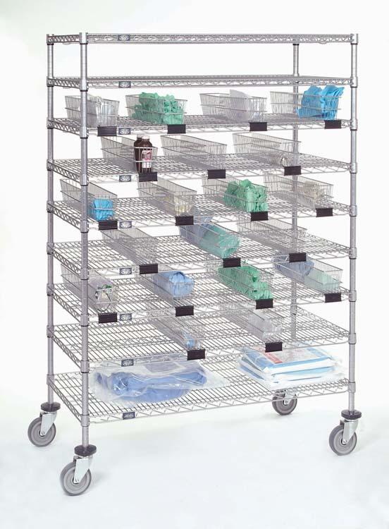 Nexel Catheter Cart w/ Basket