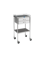 Pedigo Stainless Steel Utility Table with 2 Drawers, SG-80-A-SS