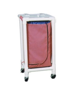Newmatic Medical Regular Capacity Single PVC Hamper Carts w/ 28 Gallon Mesh Bag