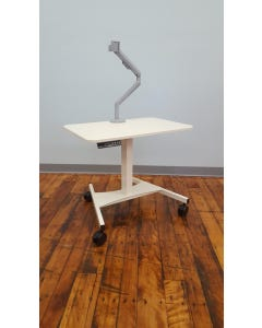 """StableRise Cart with 16"""" x 26"""" Surface and Monitor Arm"""