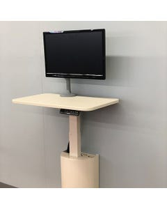 """StableRise Wall Workstation with 16"""" x 26"""" Surface and Monitor Arm"""
