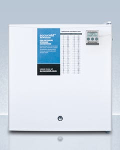 Summit Appliance FS24L7PLUS2 Compact commercially listed all-freezer, manual defrost with a lock and NIST calibrated thermometer