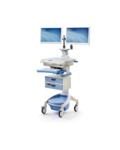 Touchpoint Medical Dual Monitor Computer Cart