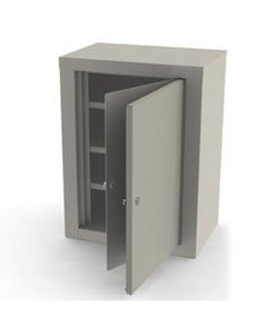 UMF Medical 7780-QUIET-WHITE Double Lock Narcotic Cabinet with Two Door and Three Shelves