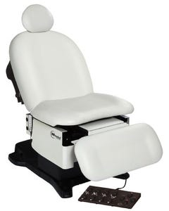 UMF Medical Power Podiatry/Wound Care Procedure Chair, Hand and Foot Control, Base and Fire Rated Top, 5016-650-200F
