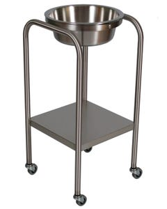 UMF Medical SS8365 Stainless Steel Single Basin Stand with Shelf