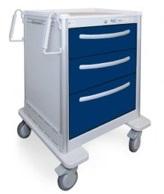 Waterloo 3 Drawer, Short Lightweight Aluminum Anesthesia Cart