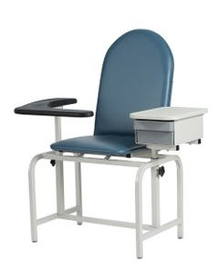 Winco 2572 Padded Vinyl Blood Drawing Chair, with Drawer