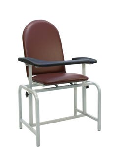 Winco 2573 Padded Vinyl Blood Drawing Chair