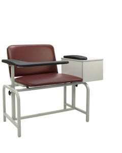 Winco 2574 XL Padded Vinyl Blood Drawing Chair, with Drawer