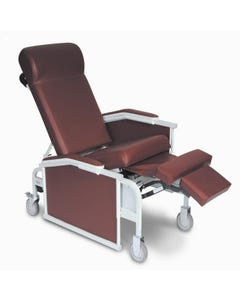 Winco 5271 Drop Arm 3-Position Convalescent Recliner - with Tray