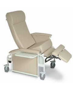Winco 6571 XL Drop Arm Care Cliner (Steel Casters)