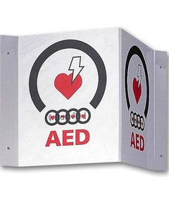 Zoll AED Plus 3-D Wall Sign, 9310-0738