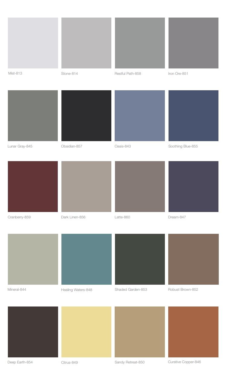 Standard Vinyl Color Choices